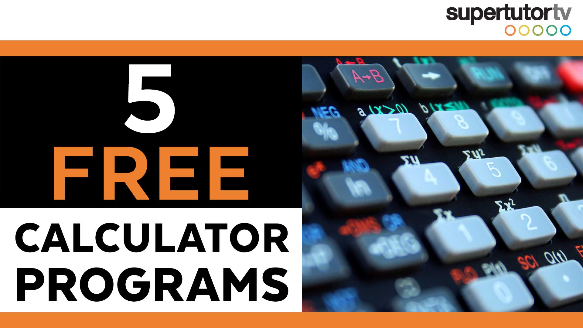 FREE TI-84 Hacks!! 5 ACT Calculator Programs | SupertutorTV