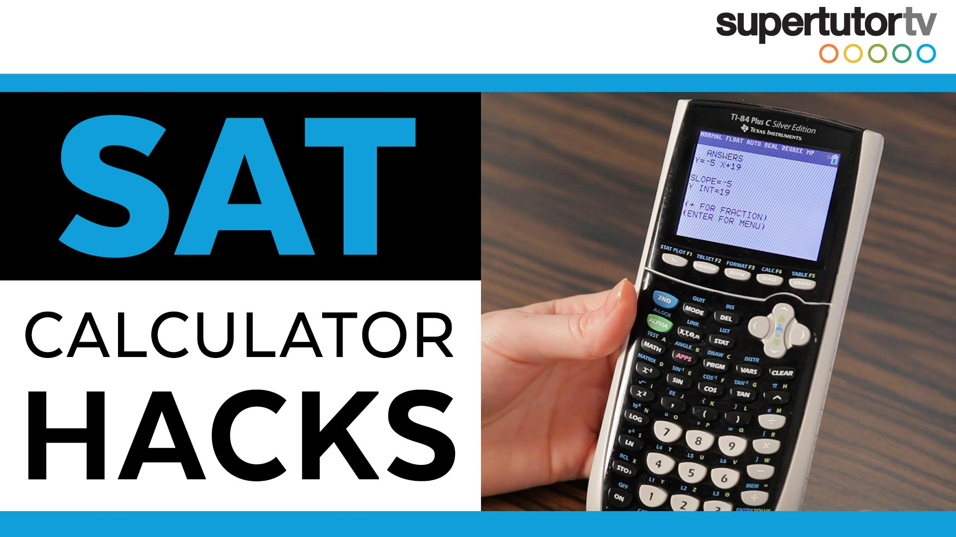 SAT Calculator Hacks: TI-84 Tips & Tricks | SupertutorTV