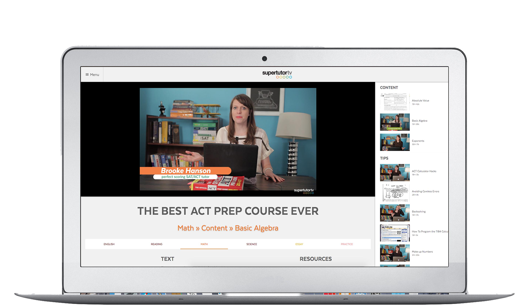 The Best ACT Prep Course Ever™ is designed to go with you, on your laptop or mobile device!