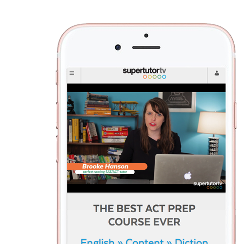 The Best ACT Prep Course Ever™ is mobile friendly, so you can take it with you on-the-go!