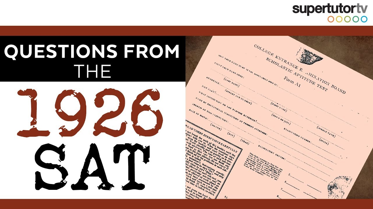 Questions From the 1926 SAT®