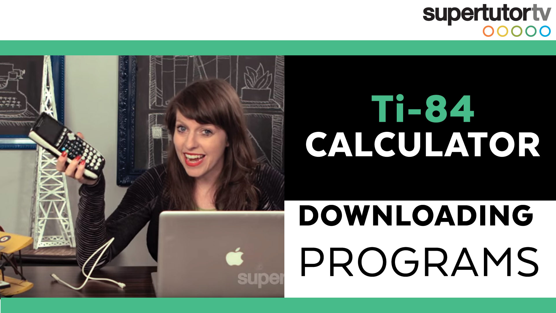TI-84 Calculator: Downloading Programs | SupertutorTV