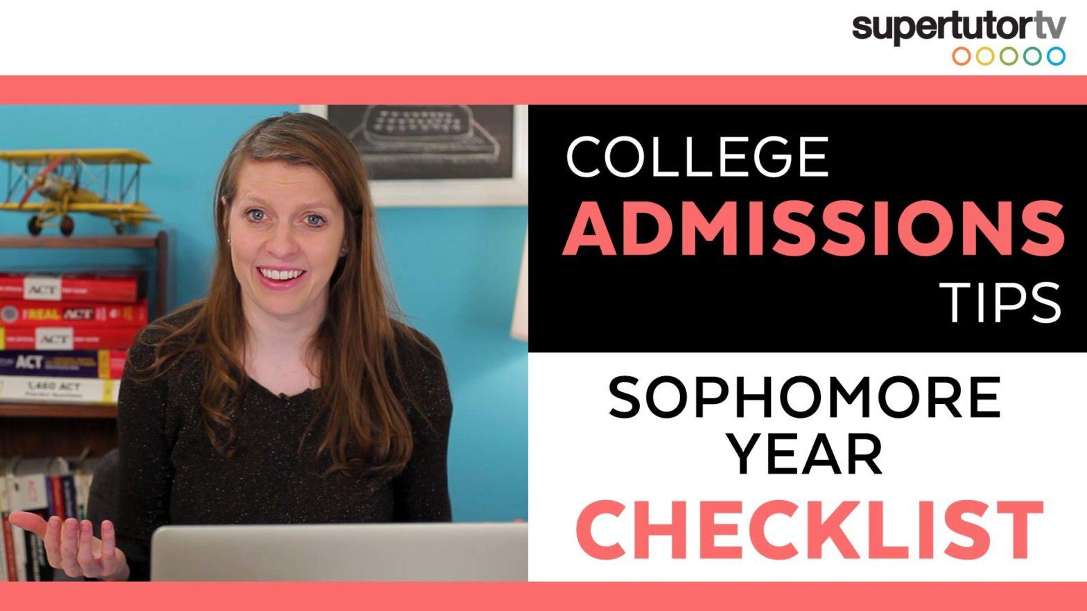 Sophomore Year College Checklist!
